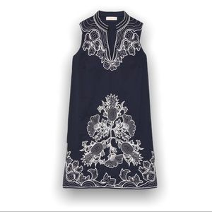 Tory Burch Embroidered Voile Cotton Dress Medium